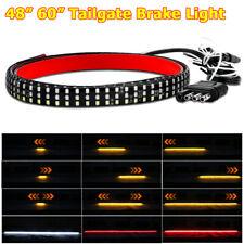 "Truck Tailgate RV Strip 60"" 48"" Tri-Row LED Turn Signal Brake Reverse Light Tail"