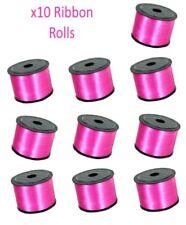 10 PINK Cinta Rollos - Listones Cuerda Globo Regalo Detalle Lazo Lote
