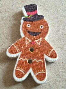 Gingerbread Man + Lots of Others - Christmas Buttons - Uk FREEPOST - Cardmaking