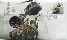 2016 Vietnam War 1962-1975 FDC/PNC With Limited Edition Coloured 50c Coin