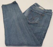 Women's Vigoss Skinny Slim Crop Capri Distressed Jeans Pants  SZ 13/14 SZ 33x28