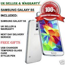 Samsung Galaxy S5 SM-G900F 16GB 4G débloqué smartphone brillant blanc grade a + uk