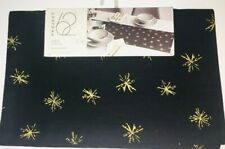 "Project 62 Snowflake Extended Table Runner 14""x 108"" Black & Gold NEW Christmas"