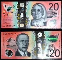 2019 AUSTRALIA 20 $  DOLLARS POLYMER P-NEW UNC *** MARY REIBEY SHIP JOHN FLYNN R