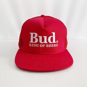 Budweiser Bud King Of Beers Adult Mens Mesh Trucker Cap Hat