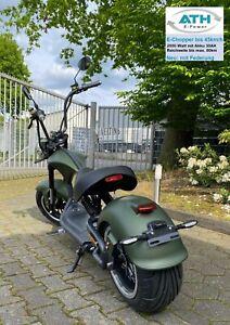 E Roller Elektro Chopper matt grün 2000W 45km/h  80km Straßenzulassung Scooter