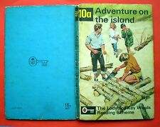 Adventure On The Island vintage Ladybird book 10a Key Words Reading Scheme kids