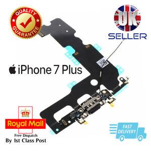 Black iPhone 7 Plus Charging Dock Port Flex Headphone jack Antenna Mic