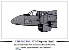 Czech Master Resin 1/72 Lockheed P2V-7B Neptune Fighter Nose Conversion (No Deca