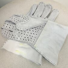 Heavy Duty Steel Rivet Work Gloves for Plumbers using Drain or Sewer Machines