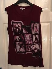 Burgandy Pictured Tank Top Size S/M