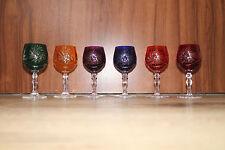 6 Römer Kristallgläser Likör Römer Schnaps Glas 24% Bleikristall in 6 Farben OVP