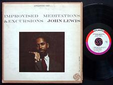 JOHN LEWIS Improvised Meditations & Excursions LP ATLANTIC 1313 US '59 JAZZ MONO