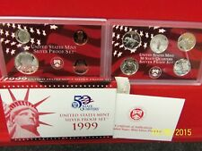 1999-S SILVER 9 Coin Proof Set ORIGINAL!!! Key!!