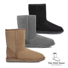 Classic Short 3/4 UGG Boots Australian Sheepskin /Leather Unisex Water Resistant