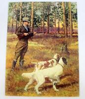 "Vintage Hunting Calendar Salesman Sample Litho Print ~ 10"" x 7.5"" ~ Lot 1"