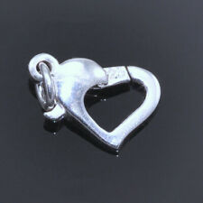 Solid 925 Sterling Silver Heart Lobster Trigger Clasps Jewellery Making Findings