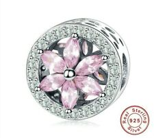 Charm Anhänger wie f. Pandora 925 Sterlingsilber Blume Flower C43