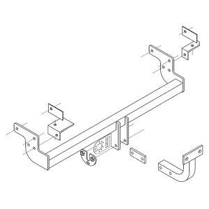 PCT Towbar for Mitsubishi Lancer Estate / Est 2003-2008 - Flange Tow Bar