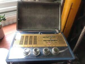 PYE PORTABLE 1950 VINTAGE RADIO LOVELY CHROME UNTESTED