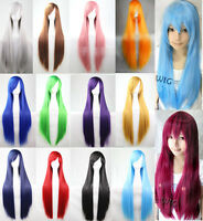 Women Long Straight Wigs Fashion Cosplay Costume Anime Hair Party Full Wigs N200
