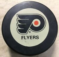 Philadelphia Flyers Vintage Inglasco NHL Shield Hockey Puck Made in Canada