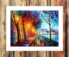 A man's street trees Paintings HD Print on Canvas Home Decor Wall Art Pictures