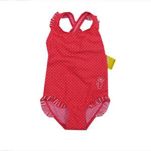 Kanz Bademode Badeanzug Schwimmanzug Einteiler Baby Rot Mädchen Gr. 68 80