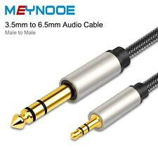 """3FT 6FT 16FT 3.5mm 1/8"""" Male to 6.35mm 1/4"""" Male TRS Stereo Audio Cable Adapter"""