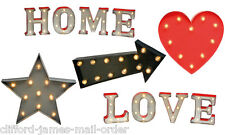Battery Operated LED Lights Heart Arrow Star Home Love Novelty Wall Lighting
