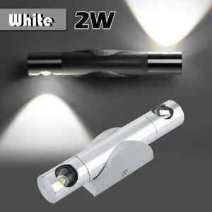 Finether 2W LED Lumière Applique Lampe Mural -Aluminium-Rotation de 360 °
