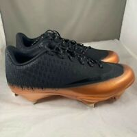 Nike Lunar Vapor Ultrafly Elite 2 Bronze Black Baseball Cleats AO7946-006 Sz 7