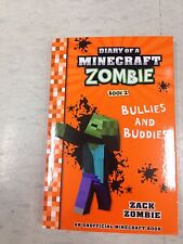 MINECRAFT ZOMBIES BOOK , DIARY OF , BRAND NEW  bullies and buddies zack Bargain