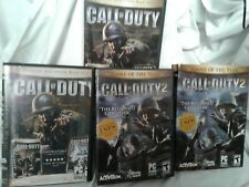 CALL OF DUTY/CALL OF DUTY 2 partials of 4 sets outer PC CD-ROM teen rated 11disc