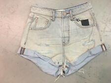 NWT ONE TEASPOON WOMEN'S BANDITS HIGH WAIST DENIM SHORTS IN OLD GOLD SIZE 26
