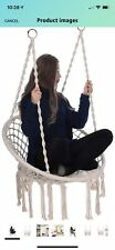 New listing New Beige bohemian style indoor/outdoor hanging rope hammock chair swing seat