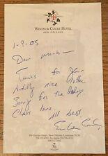Tucker Carlson Signed 4x6 Handwritten Letter President White House Donald Trump