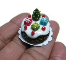 Christmas Cake Dollhouse Miniature Food Bakery Holiday X'mas