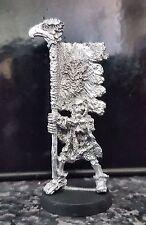 Warhammer Citadel Skeleton Standard bearer oop metal Khemri? Unpainted rare 1987
