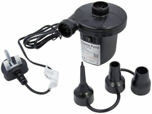 Electric Air Pump Inflator for Inflatables Camping Bed pool 240V 12V Car Home UK