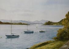 Marine Landscape Watercolour Kerrera Sound Scottish Highlands Jean Grainger 1989