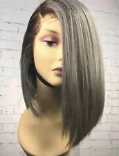 9A Silver/1B 12 inch Bob Style Wig - Luxe Beauty Hair
