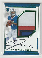 2016 NATIONAL TREASURES CARDALE JONES AUTO PATCH RC GREEN JERSEY #/7