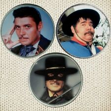 The Zorro Guy Williams Set 3 Patches Picture Embroidered Border Sgt Garcia Mask