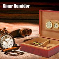 20-25 Cigar Humidor Wood Cedar Lined Storage Case Box Humidifier Hygrometer