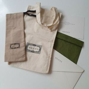 GUCCI Dust Cloth Bag Storage Stationary Gift Accessories Mini Tote