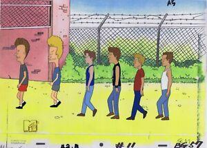 Beavis & Butt-head Original 1990's Production Cel Animation Art Butthead Line Up