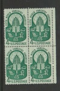 USA - 1960, 4c, World Forestry Congress Block of 4 - M/M - SG 1155