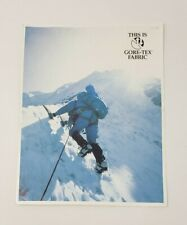 1980s Gore-Tex Vintage Brochure - Camping Equipment