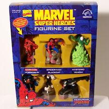 Set of 6 Marvel Comics Spiderman Figurines Carnage Venom Black Cat by Applause